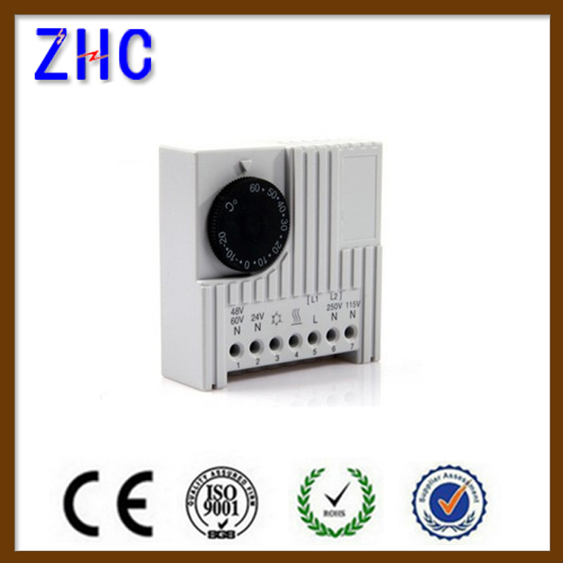 CE Mechanical Control Fan Heater Adjustable Digital Automatic Immersion Heating Digital Cabinet Hygrostat thermostat 24V
