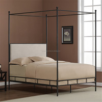chinese modern kids/adult meral iron garden four poster canopy bed