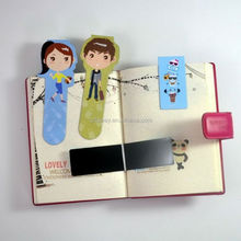 China Supplier Custom magnetic bookmark / magnet bookmark / folding magnetic bookmark