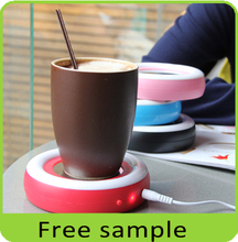 Electric mini portable office coffee usb cup warmer