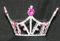 christmas pageant crowns The Small Miss America Crown-Hot Pink & Clear crystal