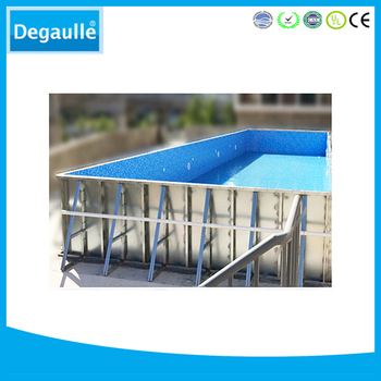 Above ground steel mobile swimming pool for game with for Above ground swimming pools for sale near me