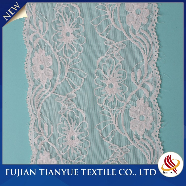 2017 High Quality Popular Nylon Lace Trim With Cross