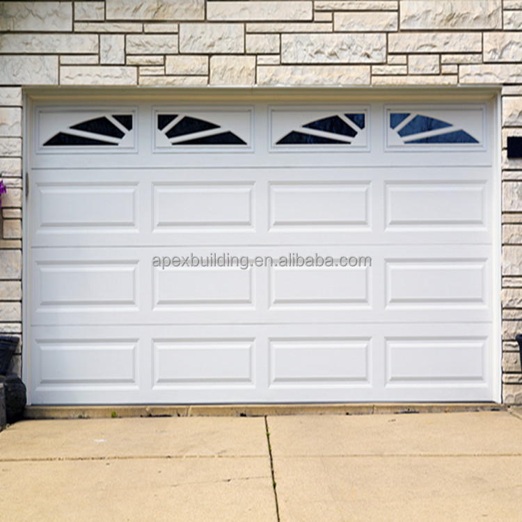 White color overhead garage door with window automatic for Overhead garage door sizes