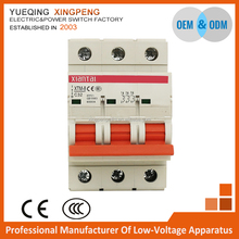Wenzhou factory 3P 32 amp 4kA 6kA electrical pole mcb tp circuit breaker