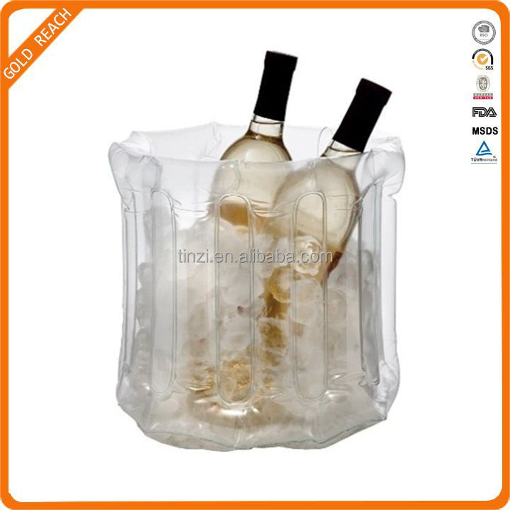Clear Plastic Pop Up Inflatable Multi Bottle Wine Cooler