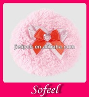 Sofeel pink long hair makeup powder puff