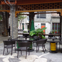 MR DREAM outdoor rattan garden furniture table chair set
