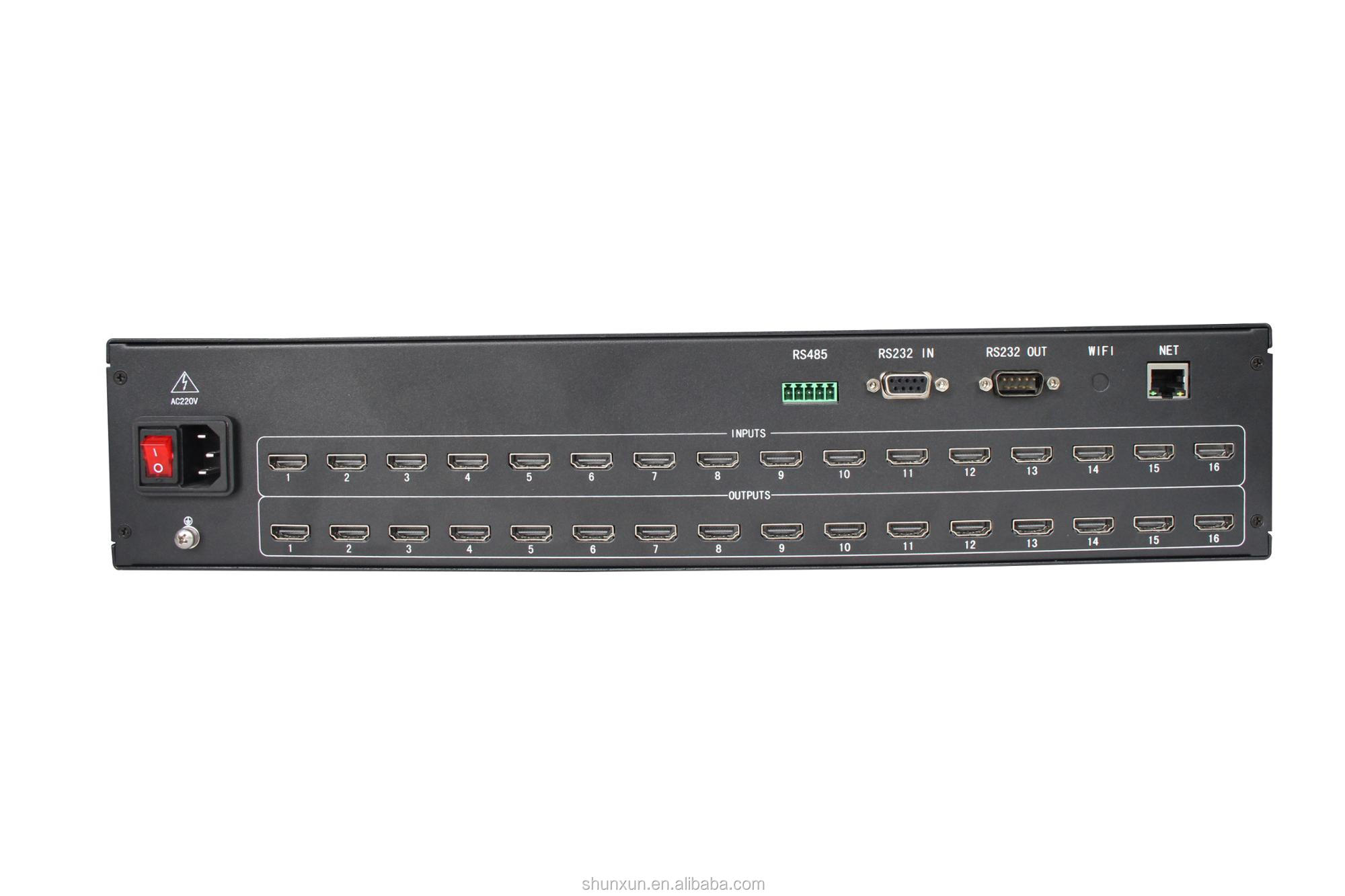 Factory price for 16 in 16 out 4K MATRIX 16x16 HDMI Matrix switch