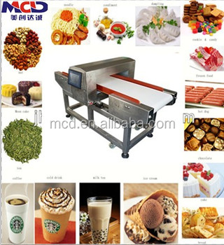 Digital food metal detector with conveyor belt MCD-F500QD Touch screen conveyor belt metal detector