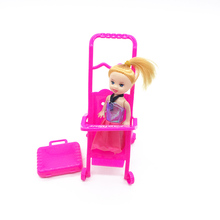 Fashion cart two color little girl bobby toys