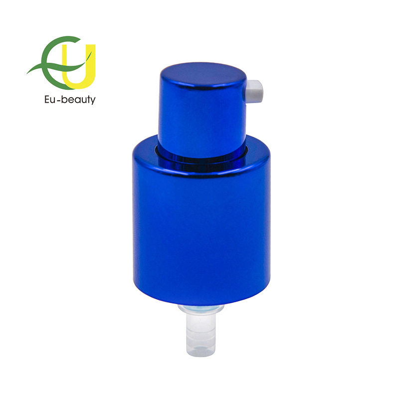 plastic lotion treatment pump 20/410 for body cream with blue UV cover