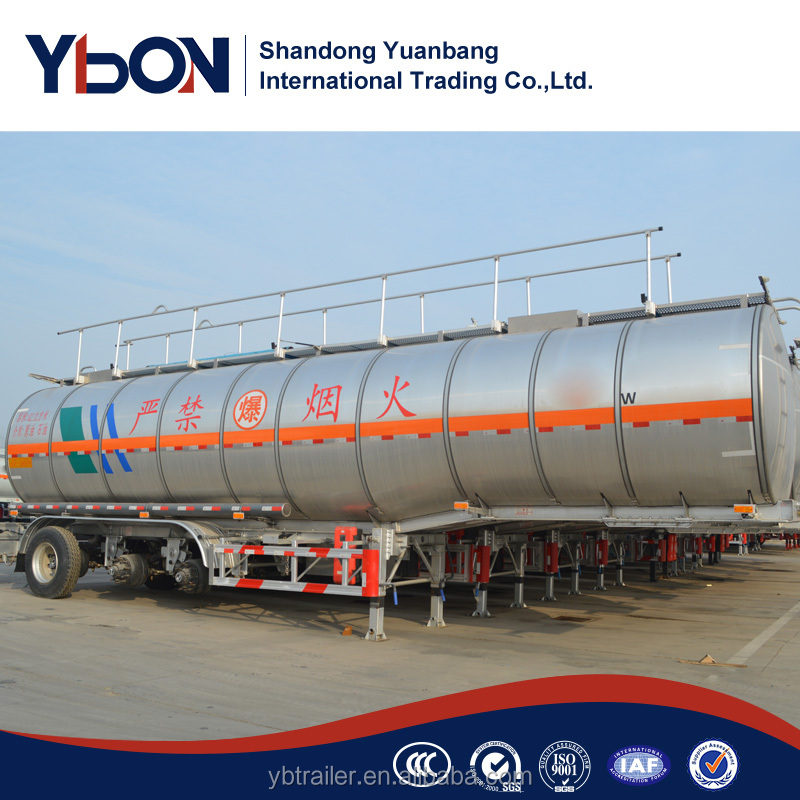 3 axles international custom crude oil storage tank semi trailers for sale