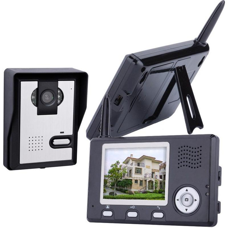 2.4GHz 7 inch color monitor wireless video door phone intercom system for villa
