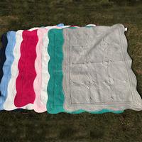 Newly Wholesale 100% Cotton Soft-Handmade Monogram Crib Baby Quilt