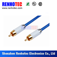 3.5mm Stereo to 2 RCA Cable Male to Male Gold Plated