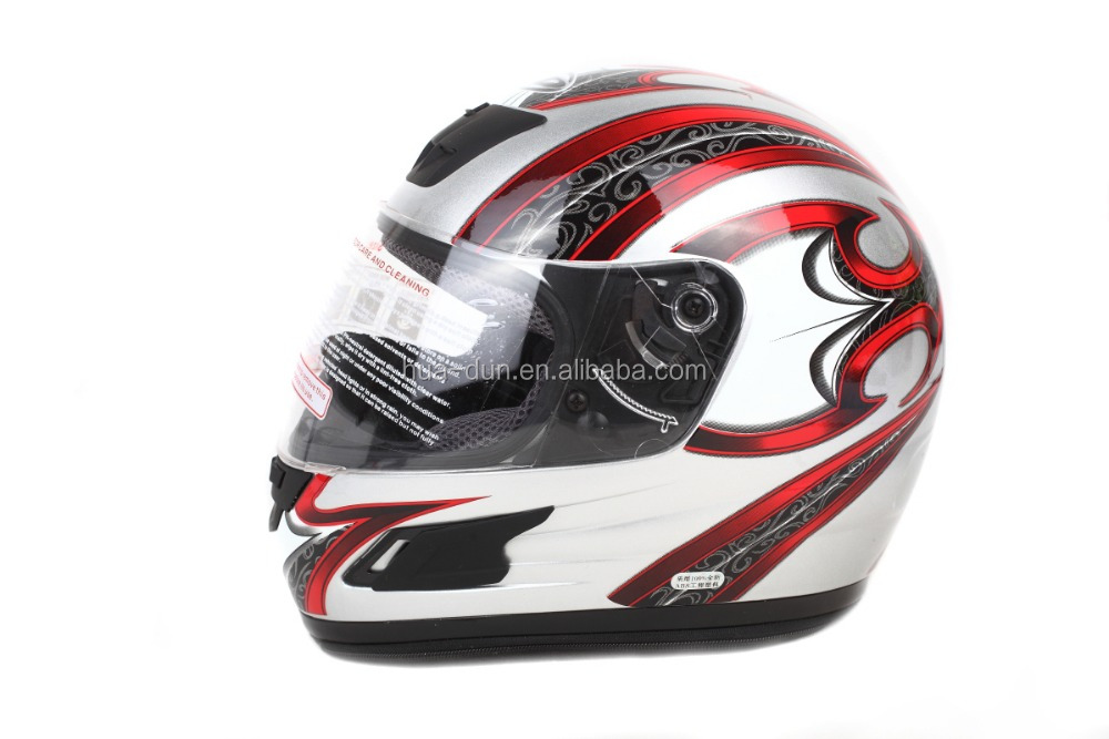 Abs Material With Single Visor Decals Custom Motorcycle Full Face - Motorcycle helmet face shield decals