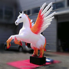 customized giant inflatable Winged white horse for advertising