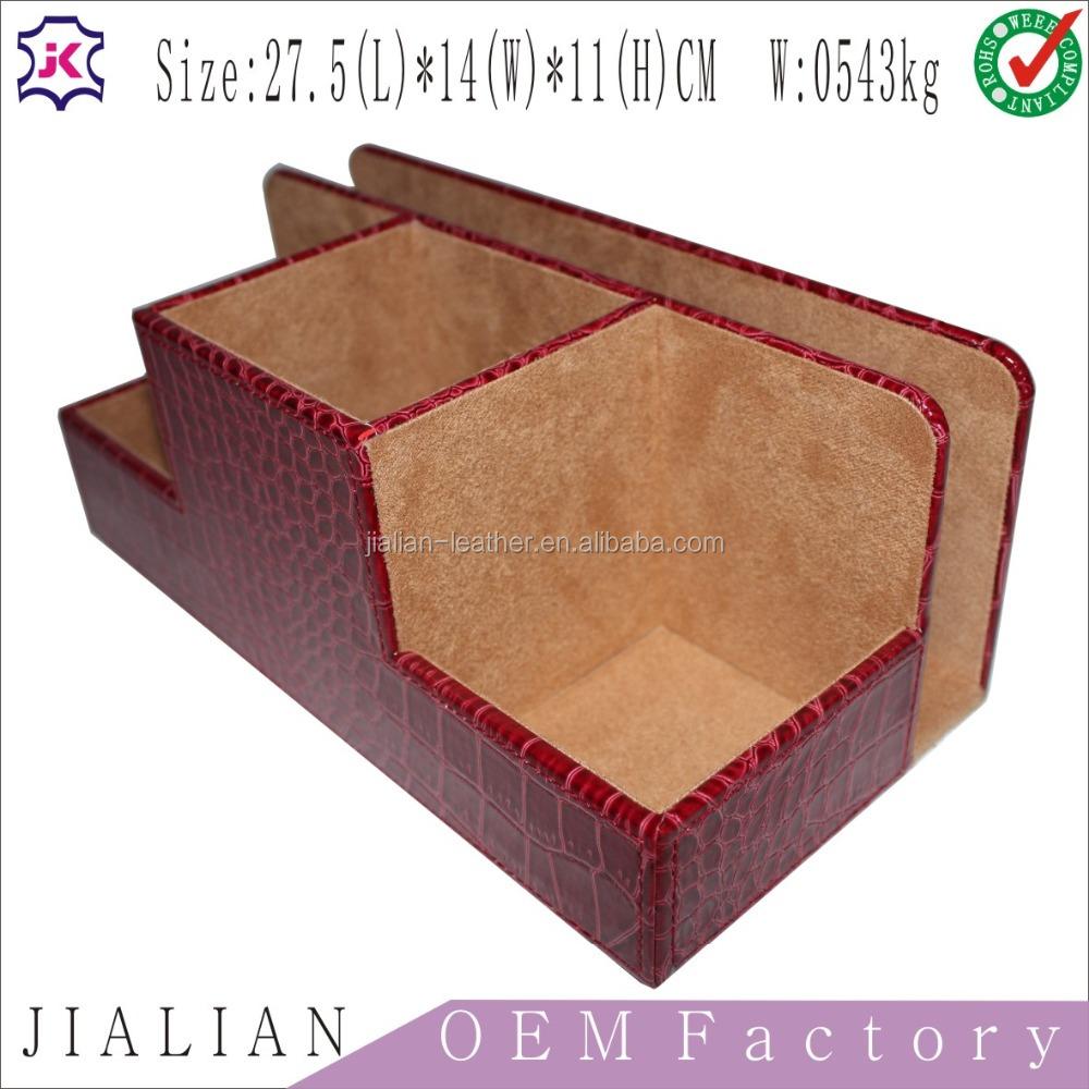 Bow Tie Storage Case Leather Travel Gift Box Cylinder Shape