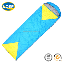 Colourful Hiking Camping envelope Shaped Cheap Designer Sleeping Bag for Adults