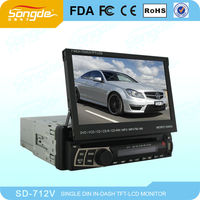 car dvd, car radio one din dvd player 7inch with touch screen