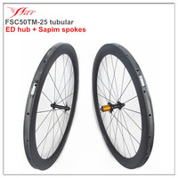1290g lightweight carbon tubular wheelset 50mm 25mm bicycle parts for racing road bike 20H/24H Bitex hub and Sapim aero spokes