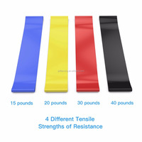 One Set including 5pcs Fitness Latex Free Elastic Resistance Loop Booty Bands Set