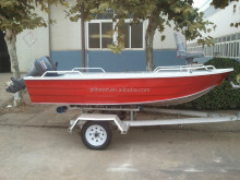 12ft small boat fully welded aluminum rowing yacht