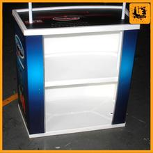 abs plastic promotion counter best selling portable expo table