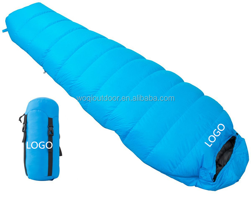 Woqi-Wholesale High Quality Waterproof Outdoor Camping Alduts Baby Down Sleeping Bag For 3 Season