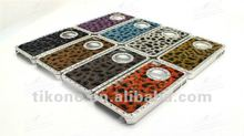 hot sales,2012 newest design luxury leather PU with diamond chrome hard case for iphone 4 4g 4s