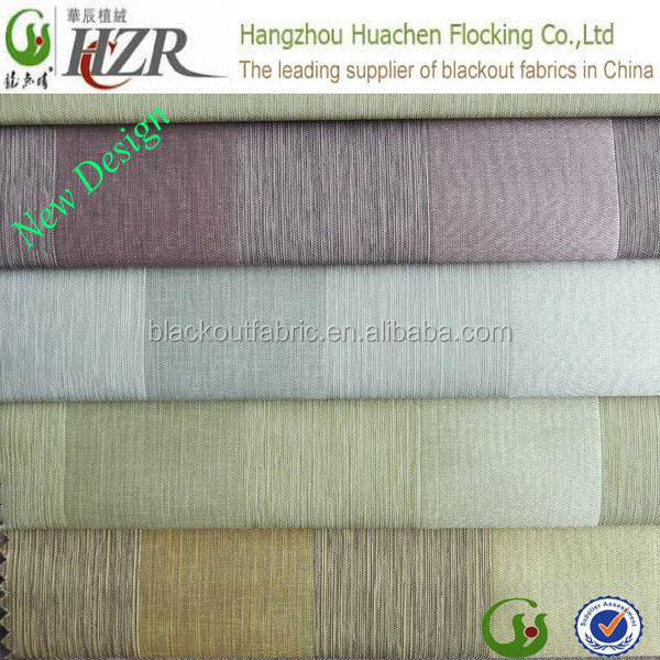100% polyester waterproof stripe satin fabric for blackout curtain