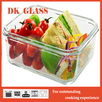 Clear Plastic Glass Food Container/Pyrex Glass Food Storage Box/Glass Lunch Box