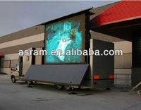 outdoor large advertising billboard P10 full color led display trailer for advertising,live show promotion led display truck