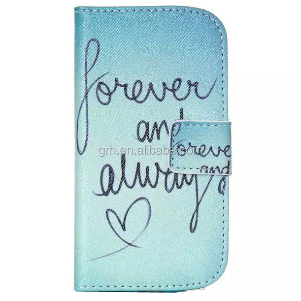wallet design leather card holder case #2 for Samsung Galaxy S3 Mini i8190