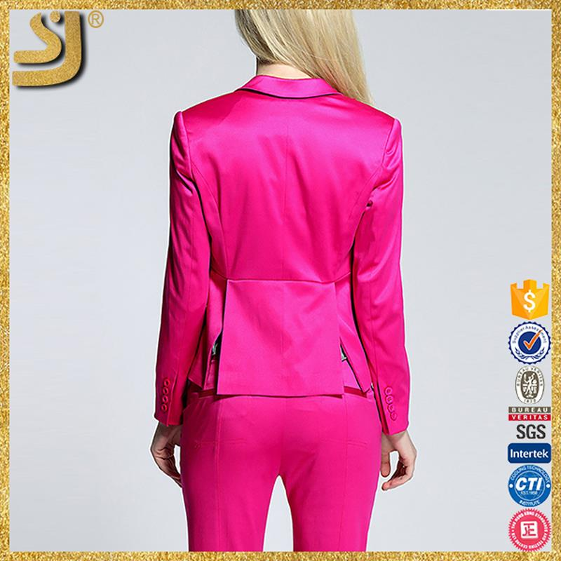 Cotton fabric outdoor clothing, red jacket blazer for woman, young womans poly sports blazer