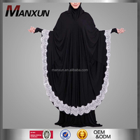 2016 Women Muslim Black Jilbab Abaya in Dubai Latest Design Kaftan Arab Llothing Fashion Hijab Abaya Dress