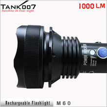 TANK007 TC60 LED Cree XM-L U2 1000lm Powerful Highest Lumen Camping Rechargeable Torchlight