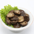 whole salted marinated shiitake mushroom