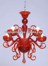 traditional charming design Red crystal/glass/Acrylic chandelier lighting