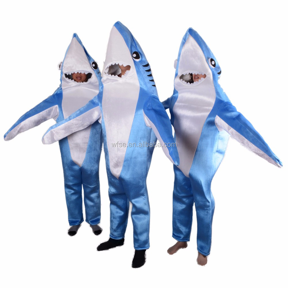 Lovely Animal Shaped Shark Mascot Costumes For Adult Kids