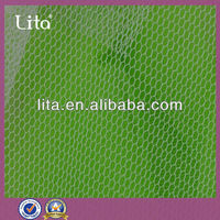 100% polyester hexagon stiff mesh fabric