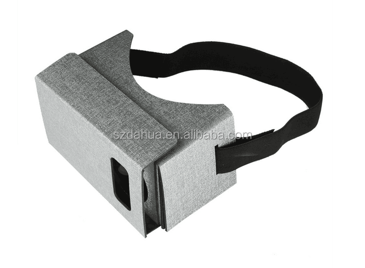 Low Price Google Cardboard V1 V2 Virtual Reality 3d Glasses VR Google cardboard for 4.7-5.5 phone