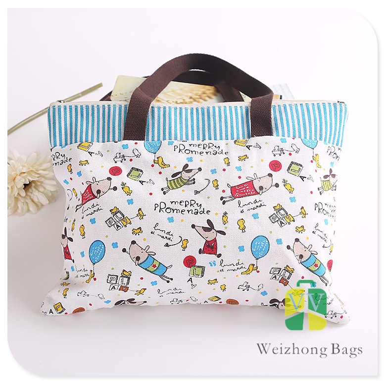 Eco Friendly Silk Printing printed Fashion Bag Handbag Canvas Bag Wholesale
