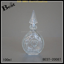 wholesale fancy new mould perfume bottles 2014 vintage cheap us type glass perfme bottle with spray 100ml