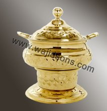 2016 new metal made chafing dish for sale | brass plated chafing dish | rounded base chafing dish