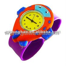HOT!!!2012 lovely silicone slap colorful kids slap watches violet
