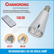 Rechargeable AC/DC bulb lamp