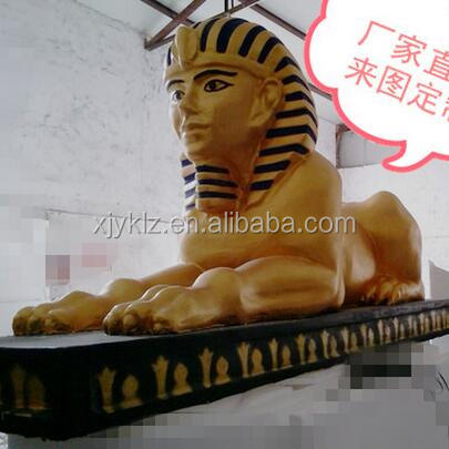 All kinds of mascot, fiberglass Egyptian statues on sale