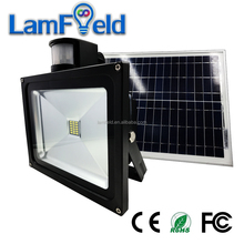 Solar Security PIR Motion Sensor 10W Solar LED Flood Light For Night Light